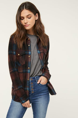 O'Neill Zuma Superfleece Flannel (Wine)