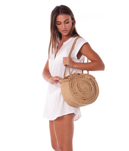 Rhythm Tiki Beach Bag (Straw)