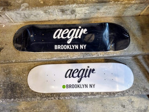 Aegir Boardworks Shop Deck - Script Logo Edition