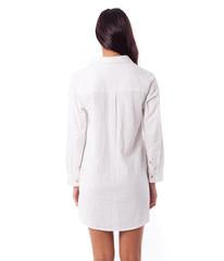 Rhythm Malta Shirt Dress (White)