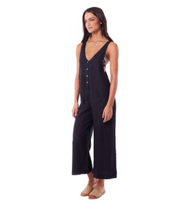 Rhythm Amalfi Jumpsuit (Black)