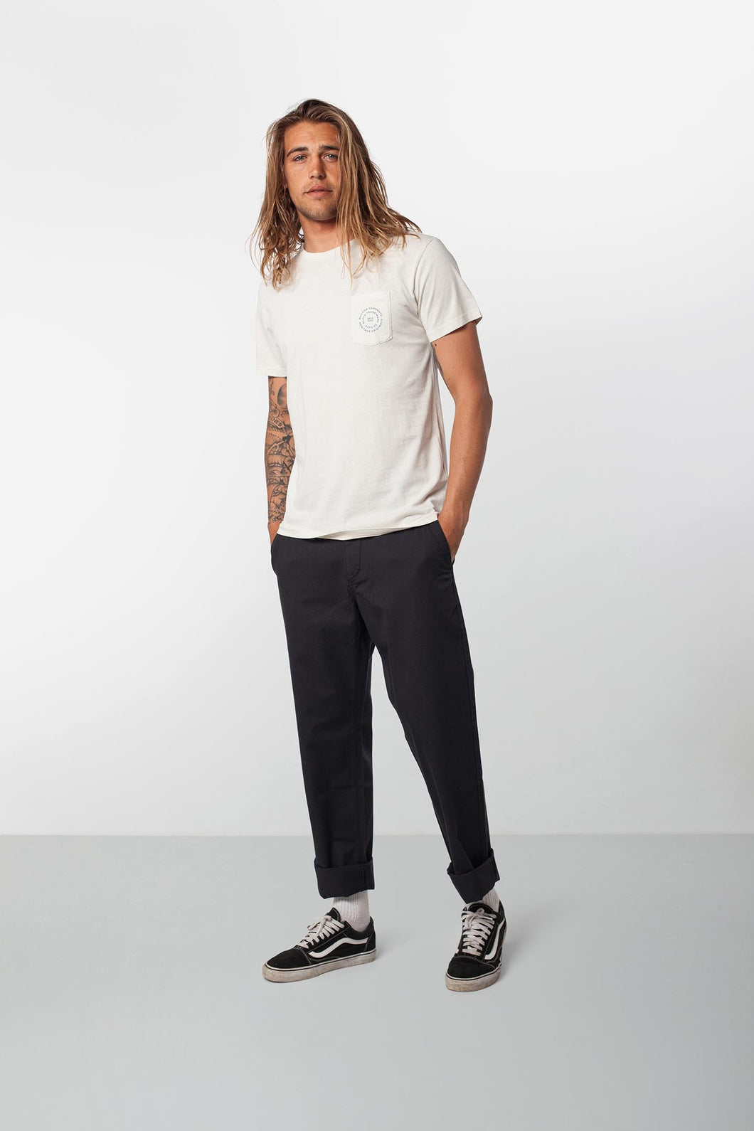 Rhythm Basic Slub Shirt (White)