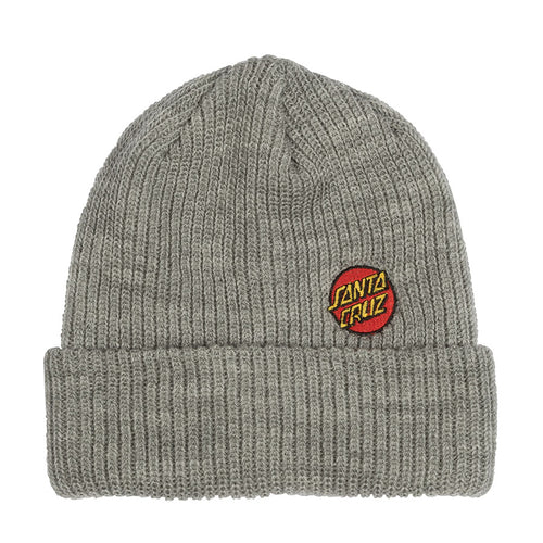 Santa Cruz Mini Dot Heather Grey Long Shoreman Beanie