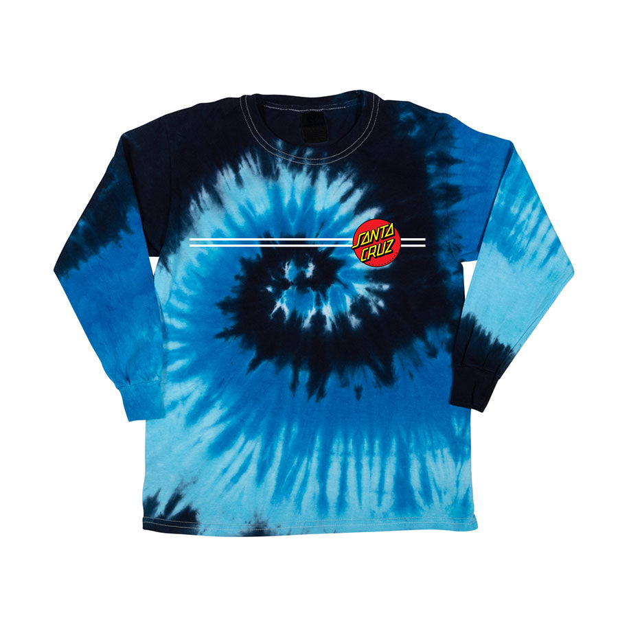 Santa Cruz Classic Dot L/S Regular T-Shirt Blue Ocean