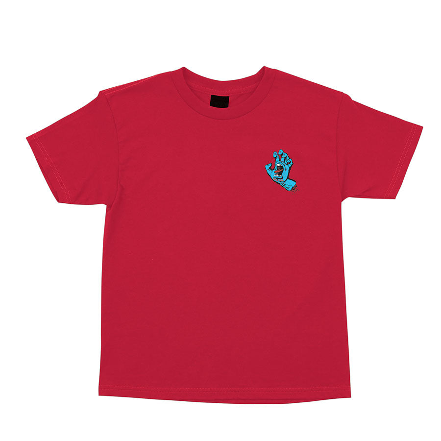 Santa Cruz Screaming Hand Red S/S Youth Tee