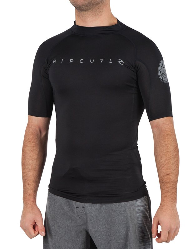 Rip Curl Dawn Patrol UV Rash Guard Tee (Black)