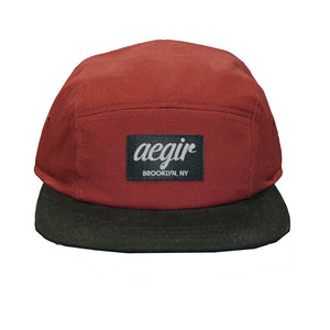 Aegir 5 Panel Runners Cap Red/Black