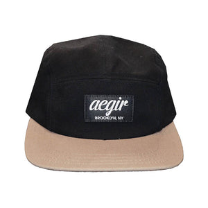 Aegir 5 Panel Runners Cap Black/Tan