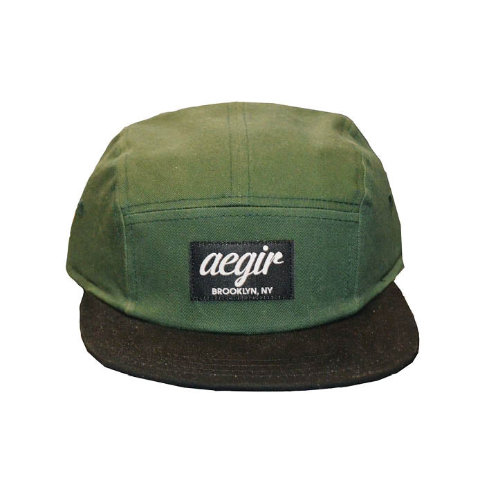 Aegir 5 Panel Runners Cap Green/Black