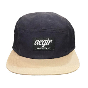 Aegir 5 Panel Runners Cap Blue/Tan