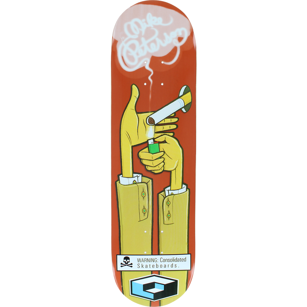 Consolidated Skateboards Mike Peterson Cigarette 8.3