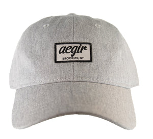 Aegir Logo Baseball Cap Light Grey