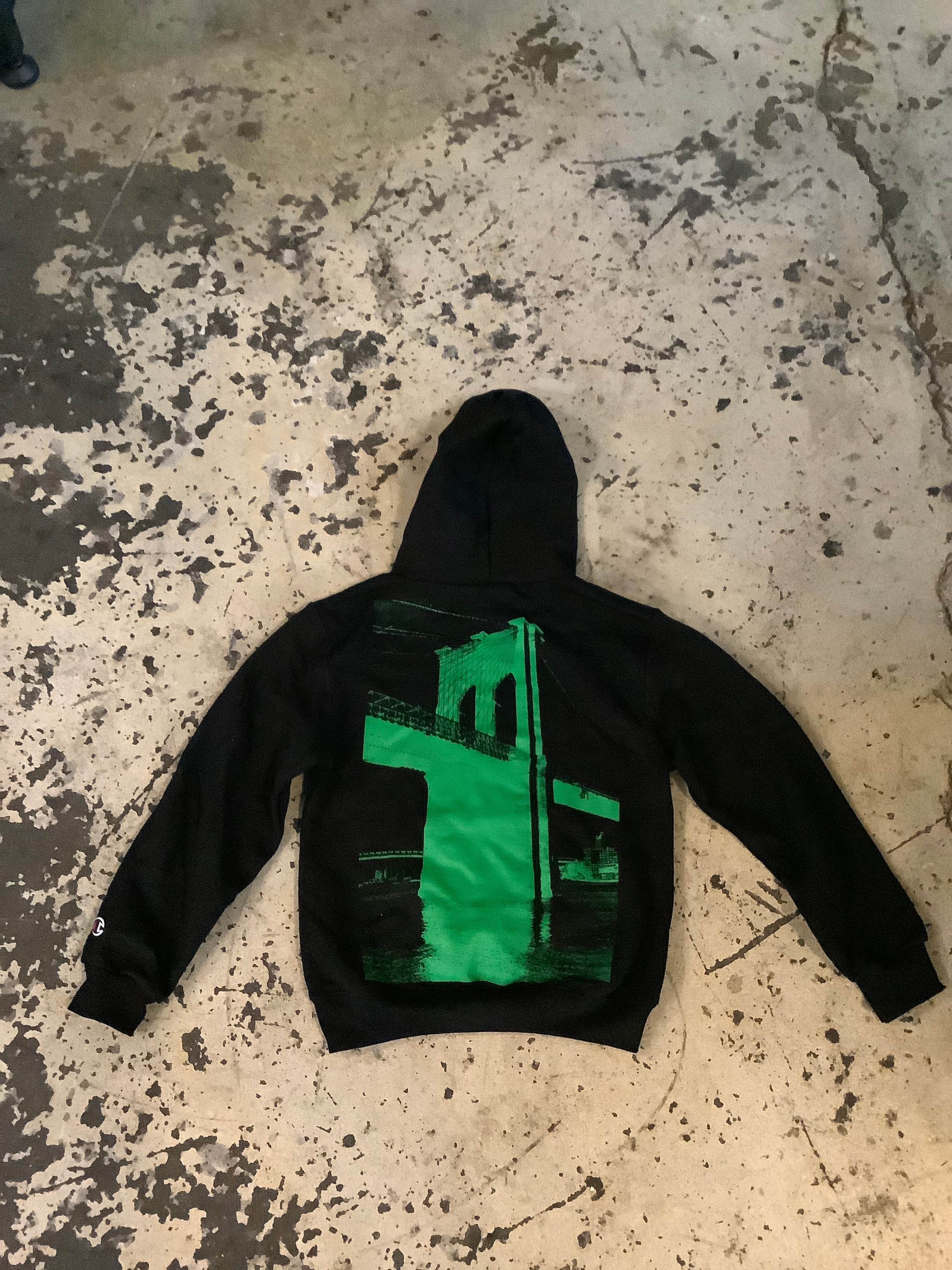 "Bridge ""Visit The Bridge"" Green Matrix Reloaded Youth Hoodie"