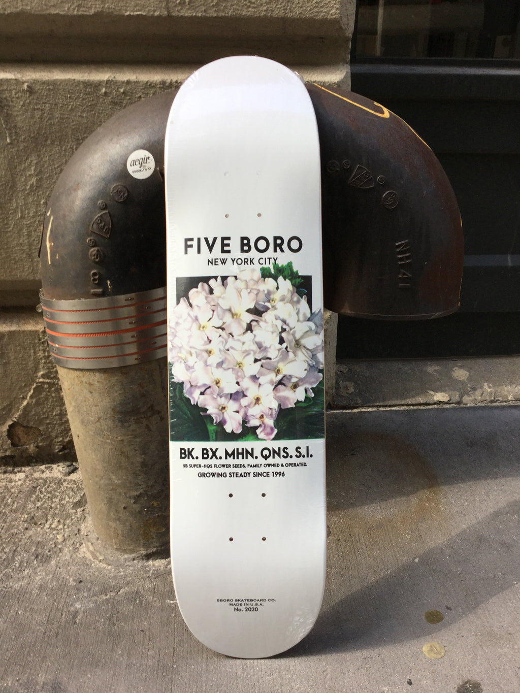"5BORONYC 5B Flower Seed White 7.8"" Deck"