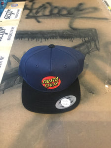 Santa Cruz Classic Dot Navy/Black Kids Snapback