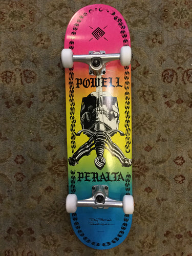 "Powell Peralta Skull & Sword Chains Colby Fade 8.25"" Complete"