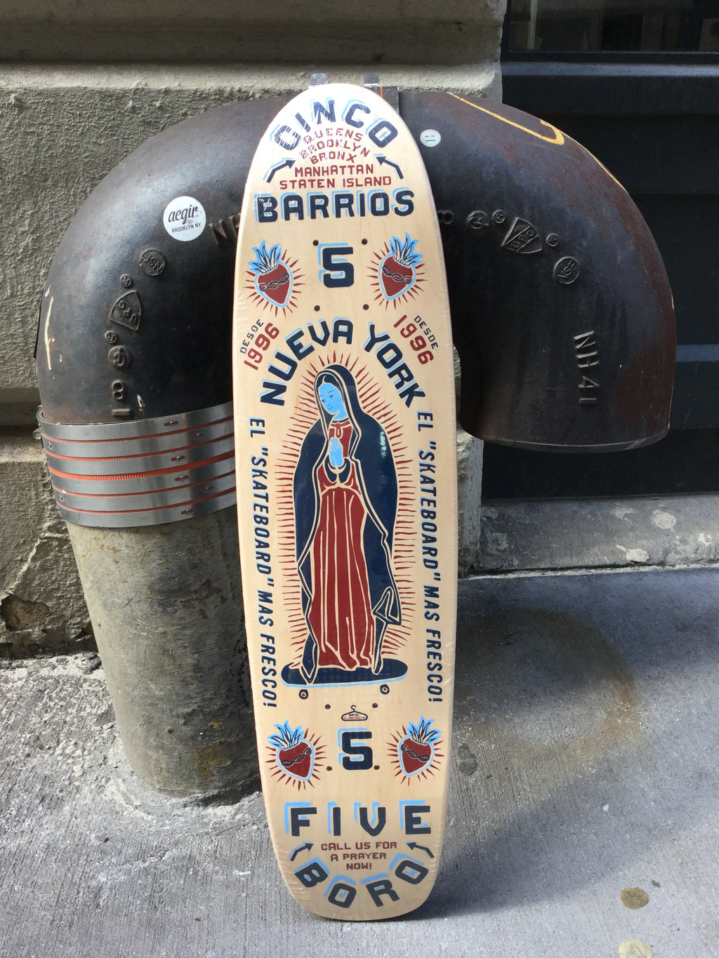 "5BORONYC 5B Cinco Barrios Small 7.6"" Deck"