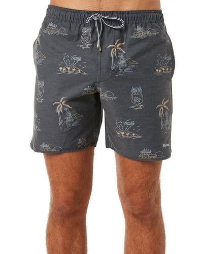 Rhythm Maui Beach Short Vintage Black