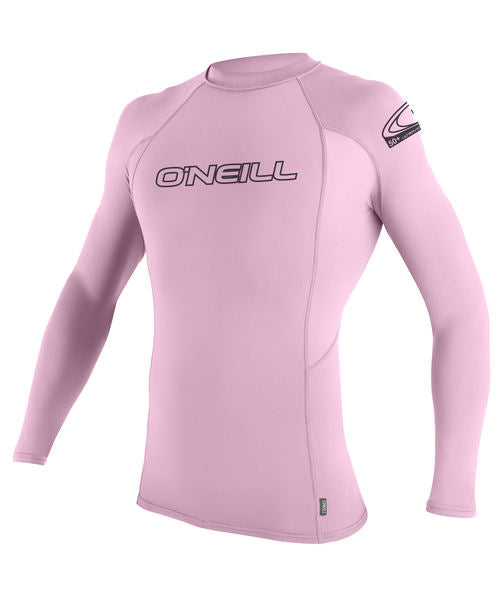 O'Neill Youth Basic Skins L/S Crew Rash Guard