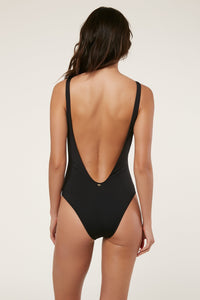 O'Neill Salt Water Solids Macrame One Piece Swimsuit (Black)