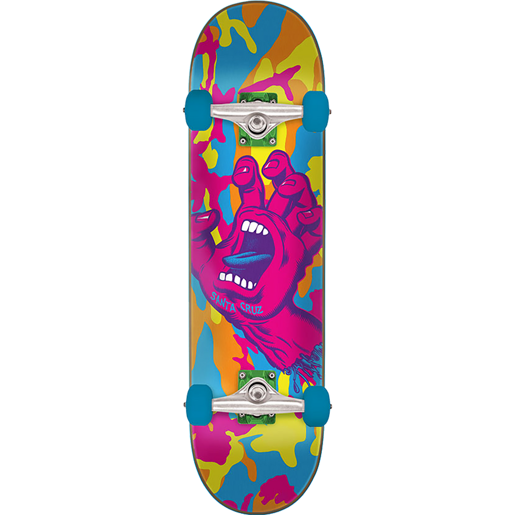 Santa Cruz Screaming Hand Neo Camo LRG 7.75