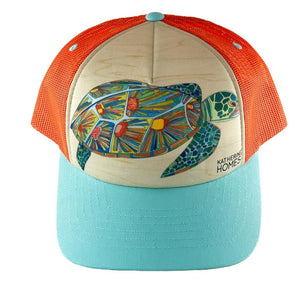 Katherine Homes Green Sea Turtle Kids Foam Sublimation Hat
