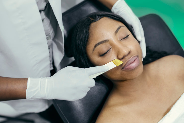 Microdermabrasion Skin Treatment Being Given To Client At Spa