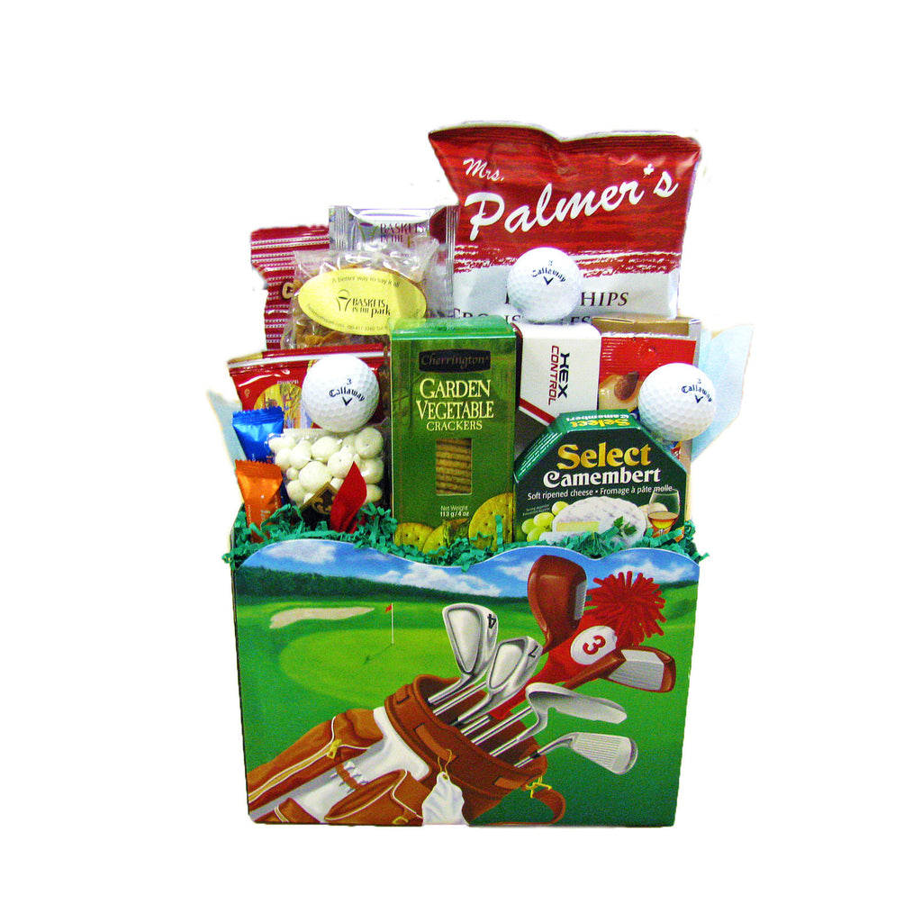 Fore the Golfer gift basket