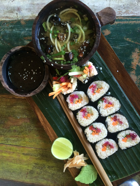 Nori rolls at Alchemy in Bali by Anika Ventura