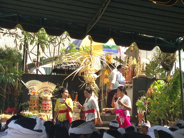 Balinese blessings for the Chocolate Factory