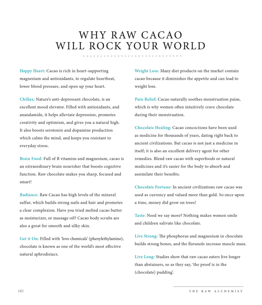 Why cacao is so good for you from The Raw Alchemist
