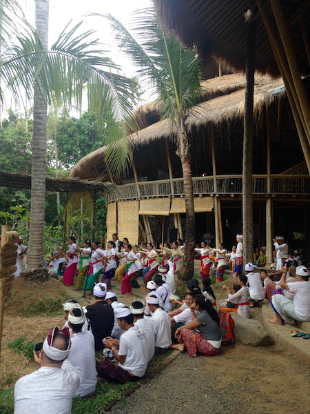 Gathering at Green School Bali to celebrate Goddess of Wisdom