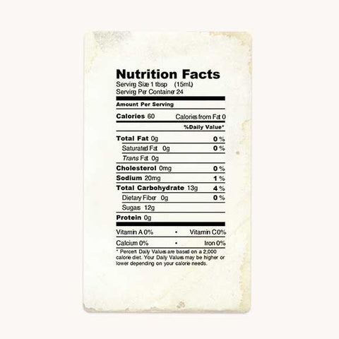 big tree farms coconut nectar amber nutrition facts