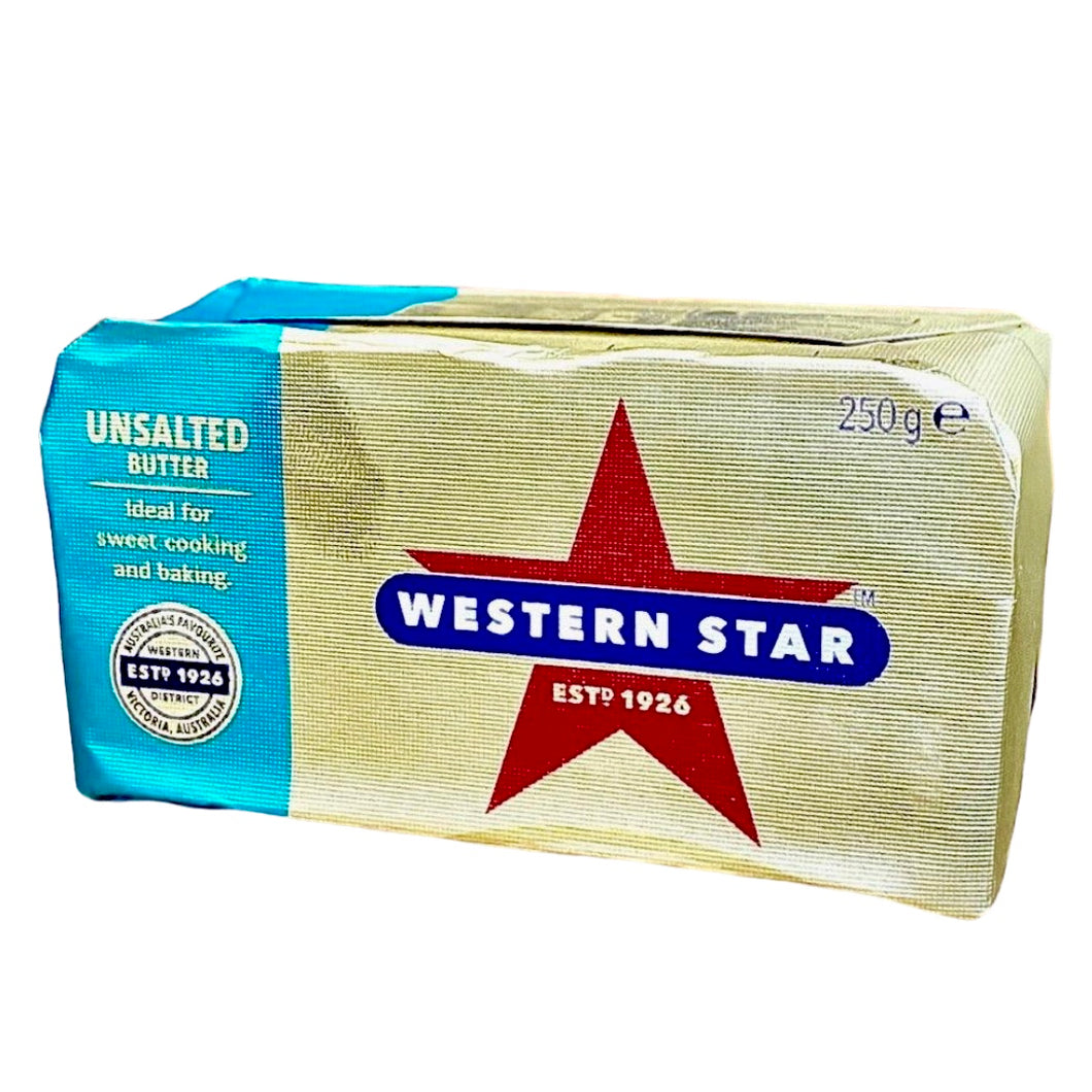 Butter - Unsalted Western Star 250g