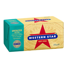 Load image into Gallery viewer, Butter - Unsalted Western Star 250g