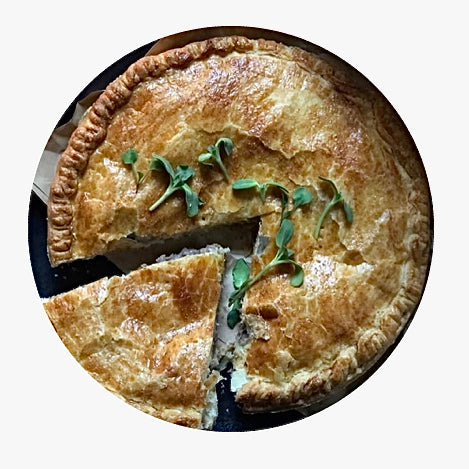 Chicken & leek family pie 800g - Blue Pear Pantry