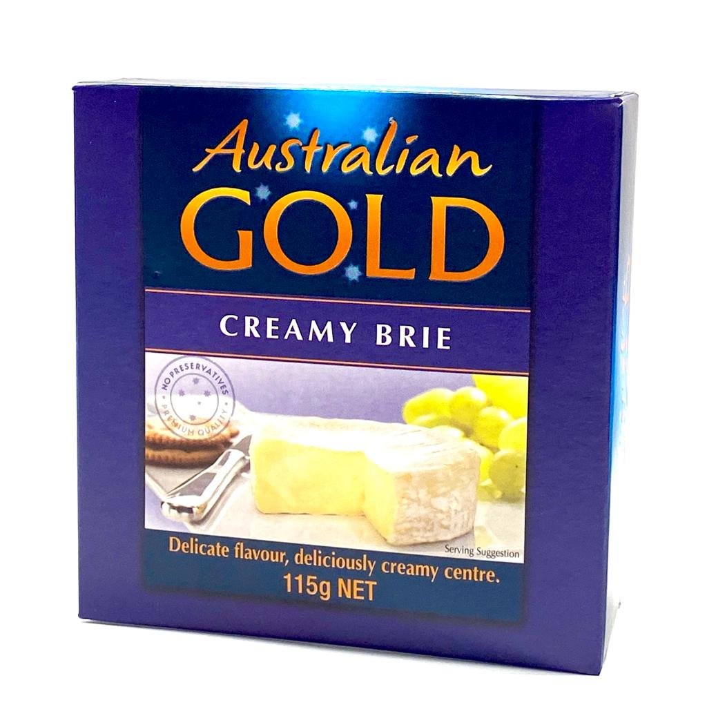 Cheese - Brie Creamy by Australian Gold Cheese in Tasmania 115g