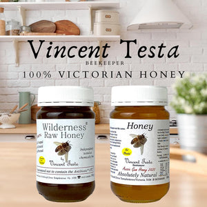 "Honey - 100% ""ABSOLUTELY NATURAL"" Honey harvested from Melbourne East   - by Vincent Testa Beekeeper"