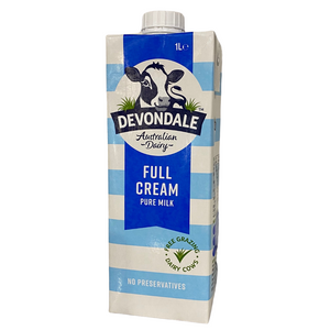 Milk - Full Cream Pure Milk - by Devondale 1 Litre UHT