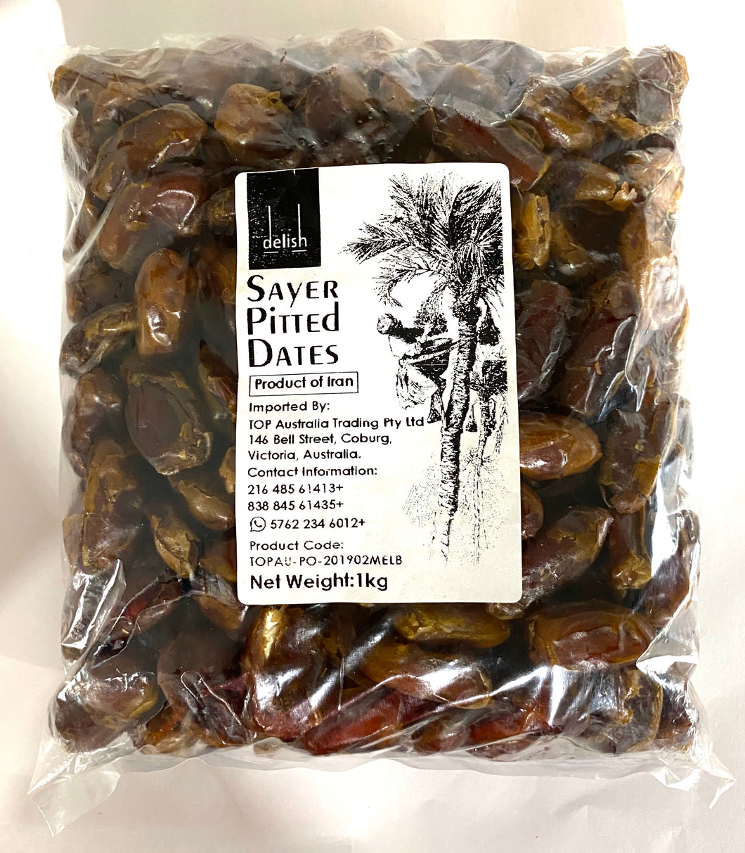 Dates - Premium Sayer Pitted Dates by Delish Food 1kg