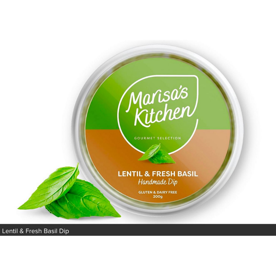 Dips - Lentil & Fresh Basil Dip **HANDMADE** - By Marisa's Kitchen