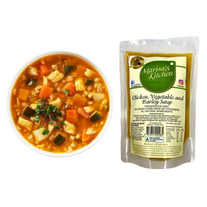 Soup - Chicken, Vegetable & Barley Soup - Handmade by Marisa's Kitchen