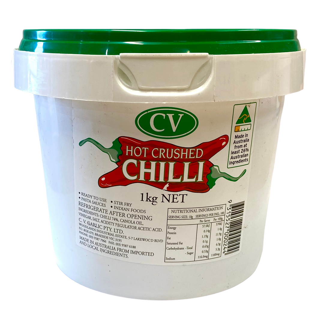 Chilli hot crushed - CV tub 1kg