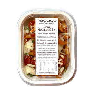 Penne Meatballs  *Home made fresh by Rococo take home range*