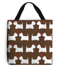 Westie in Love Tote Bag