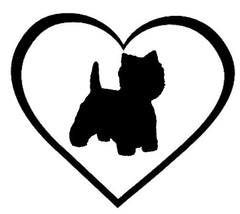 Westie in a Heart Sticker