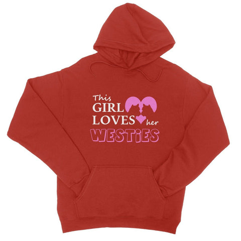 Image of This Girl Loves Her Westies Hoodie Apparel kite.ly S Fire Red