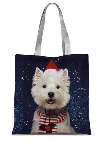"Image of Christmas Westie Sublimation Tote Bag Accessories kite.ly 15""x16.5"""