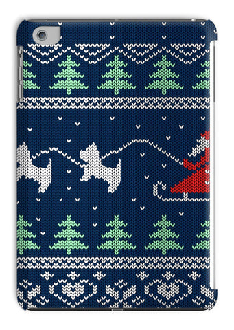 Image of Blue Santa and Westies Christmas Tablet Cases Phone & Tablet Cases kite.ly iPad Mini 1/2/3 Gloss