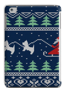 Blue Santa and Westies Christmas Tablet Cases Phone & Tablet Cases kite.ly iPad Mini 1/2/3 Gloss
